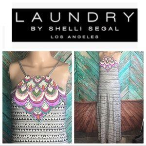 Beach Shelli Segal Laundry Jewel Maxi Dress
